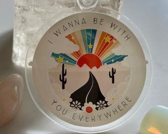 Desert Life | Be With You Everywhere Cactus Retro Keyholder
