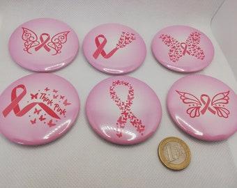 Anti Brustkrebs Kampf gegen Brustkrebs Krebs keine macht dem Krebs Ansteck Button Ansteckbutton - 5,8 cm Durchmesser