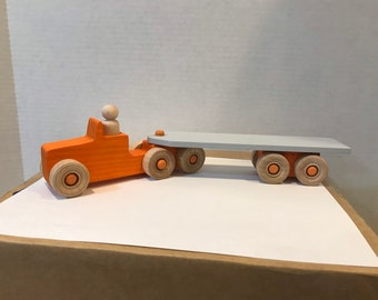 Semi Truck with Trailer, Weeble driver