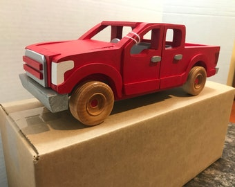 Bright Red Ford F-150 Pickup