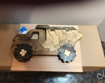 Wood Puzzles - Construction and Animals