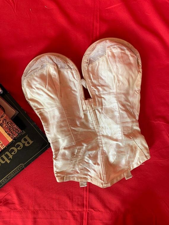 40s vintage lingerie corset satin
