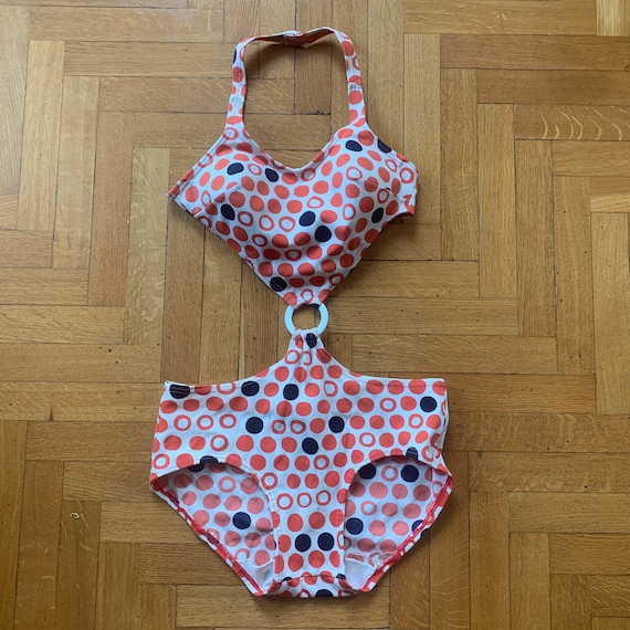 60s Swimsuit one piece circle