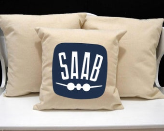 Saab logo throw pillow cover