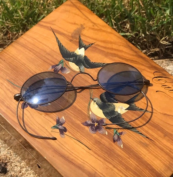 Georgian Napoleonic Sun Glasses Blue Lenses