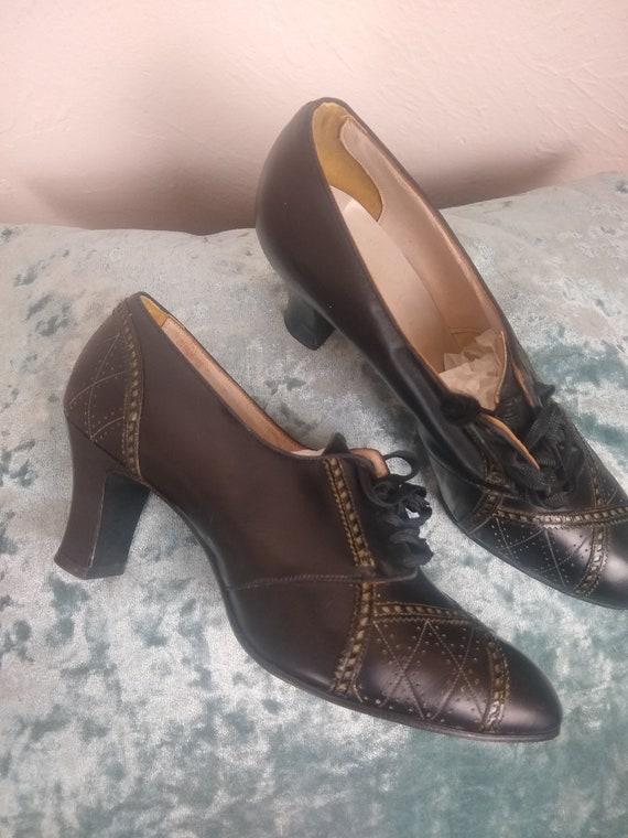 Beautiful NIB 1930s Heels Oxfords 5.5-6 Shoes Dead