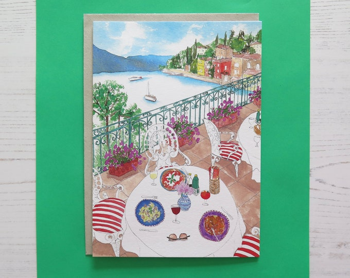 Italian Lake Como Greeting Card