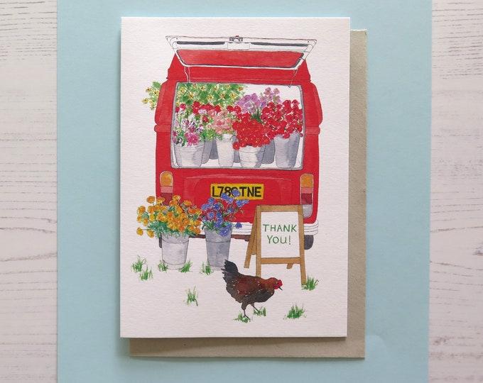 Flower Truck Thank you card