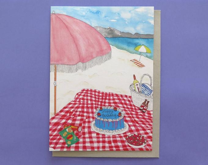 Birthday Beach Picnic Card