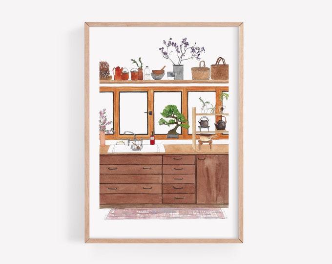 Japanese kitchen Art Print