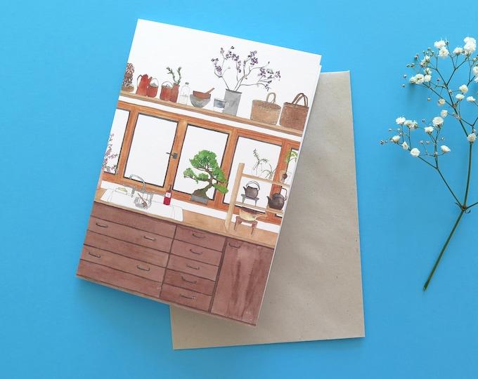 Japanese Kitchen Greeting Card