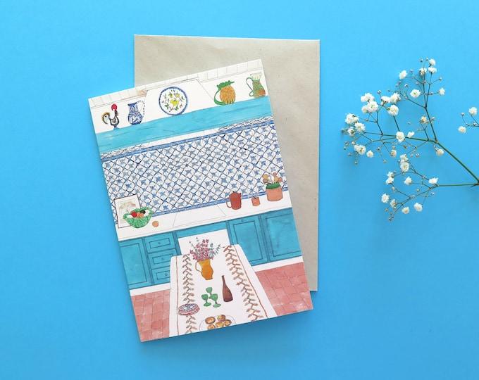 Portuguese Kitchen Greeting Card