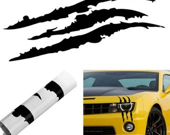UTUT Car Sticker Creative Car Truck Vehicle Headlight Claw Scratch Stripe Decal Sticker Decor Black