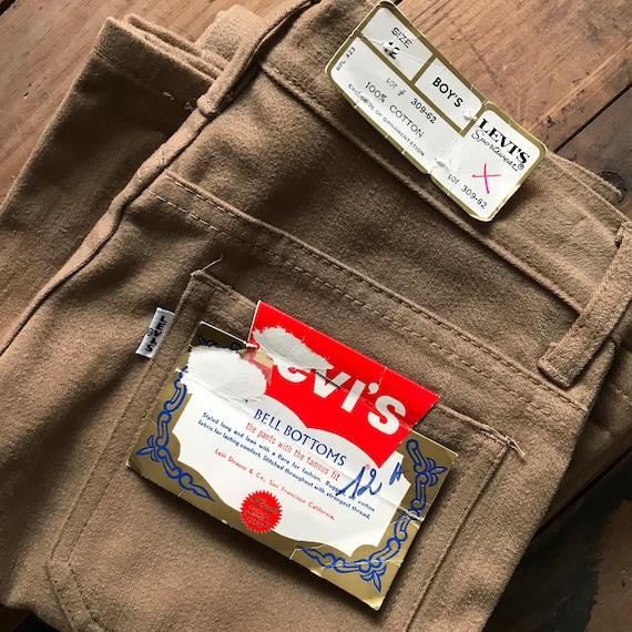Vintage Levi's Bell Bottoms Big E white tab  1970