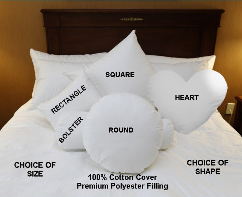 Square Pillow Inserts Round Pillow Inserts Bolster Neck Roll image 0