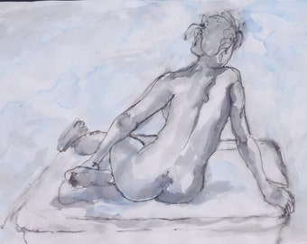 untitled (woman seated - study)