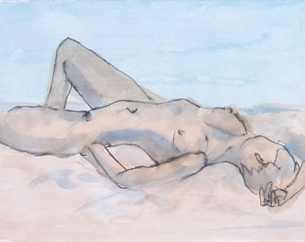 untitled (nude reclining - study)