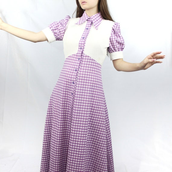 Vintage 70's Lavender Maxi Dress