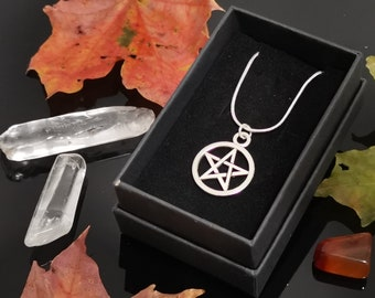 Pentagram Necklace, Witch Pentacle, Witchy charm,  Wiccan Protection Amulet, 5 pointed Star, Witches jewellery  gift, Blessed Sigil Pendant