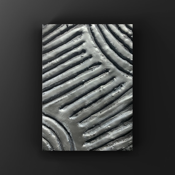 Oringinal | One of a Kind | Matalic Sliver Modern Abstract Canvas/Sculpture Textured Original Art