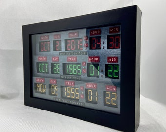 Back to The Future Time Circuits Shadow Box 5x7