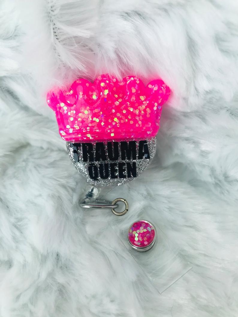 Trauma Queen ER RN Badge Reel