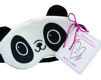 Personalized Custom Isolation Gift, Quarantine surprise, Social Distancing Card with Panda Sleep Mask