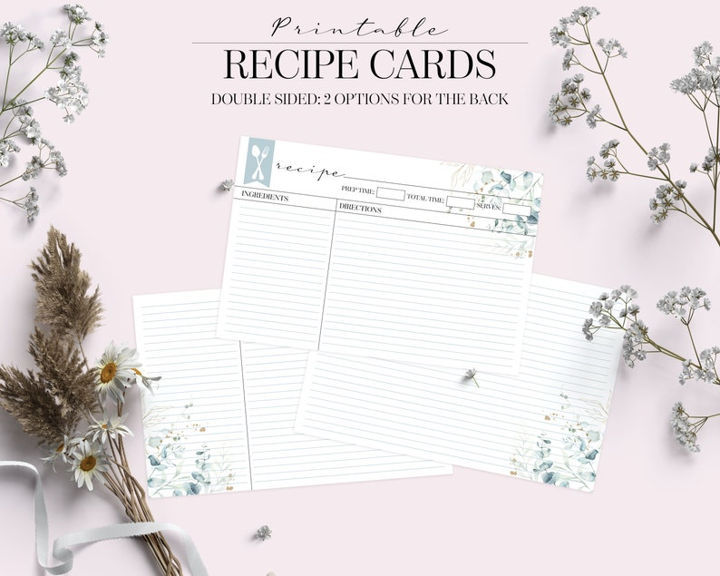 Personalized Recipe Happy Planner Printable A5 Planner Inserts Printable Foodie Gift Recipe Cards /& Weekly Meal Planner Printable