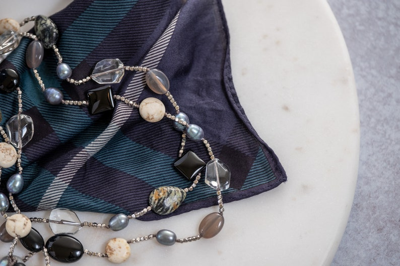 Bohemian Necklace Agate Statement Necklace Volcanic Rock Quartz Necklace Coin Pearl Necklace Multicolor Boho Necklace Gift for Her