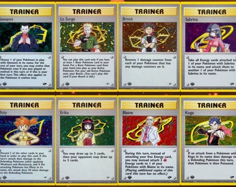 COMPLETE 1st Edition Card Pokemon Gym Heroes Card Set 1-19 PROXY