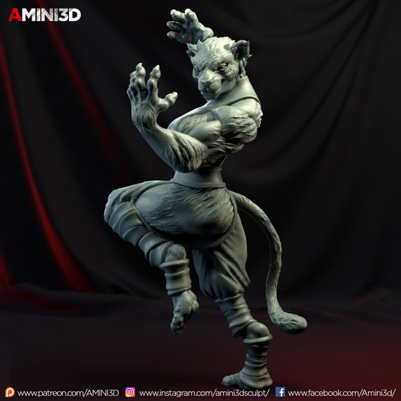 Tabaxi Monk Female Fantasy Miniature Dungeons And Etsy Lift your spirits with funny jokes, trending memes, entertaining gifs, inspiring stories, viral videos, and so much. tabaxi monk female fantasy miniature dungeons and dragons dnd warhammer tabletop game rpg amini3d