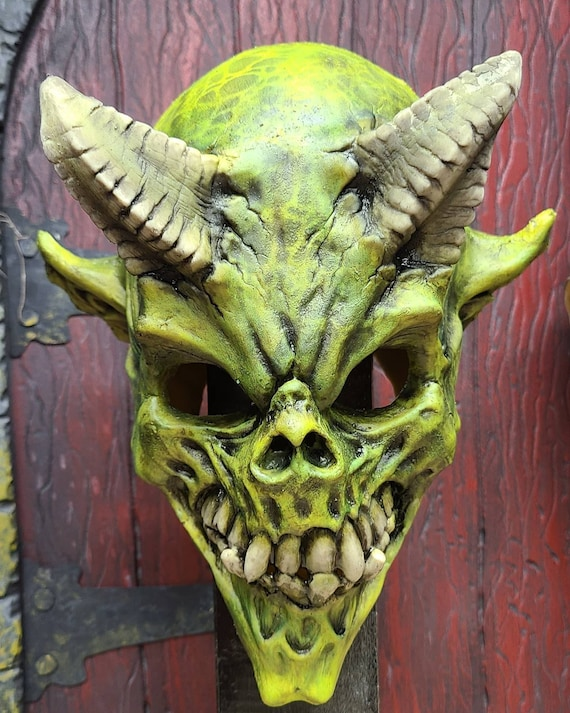 Green With Envy. Demon Skull mask