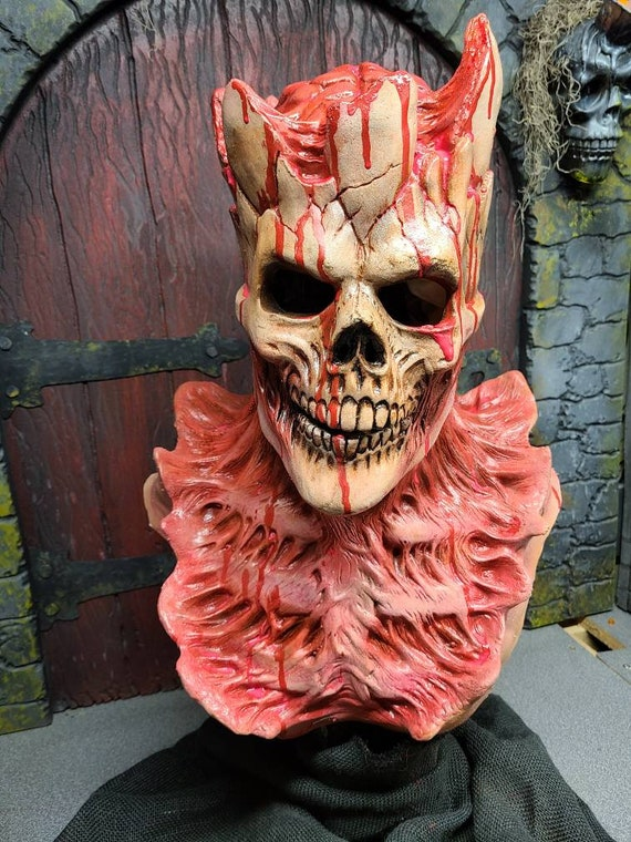 Bloody Death King. Full head latex mask.