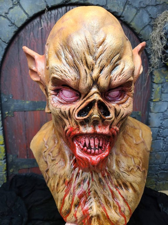 Frenzy!  Vampire bat inspired full head latex mask.