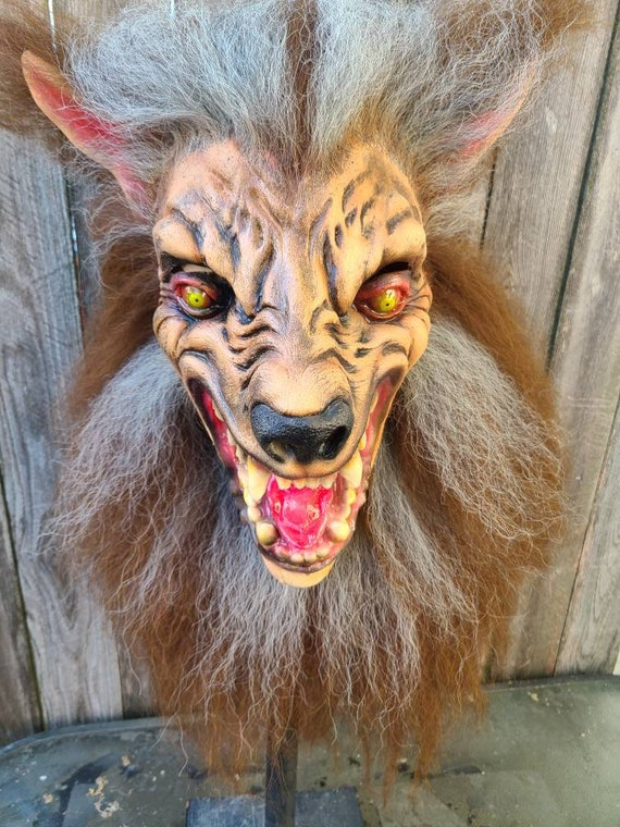Full head wearable werewolf mask
