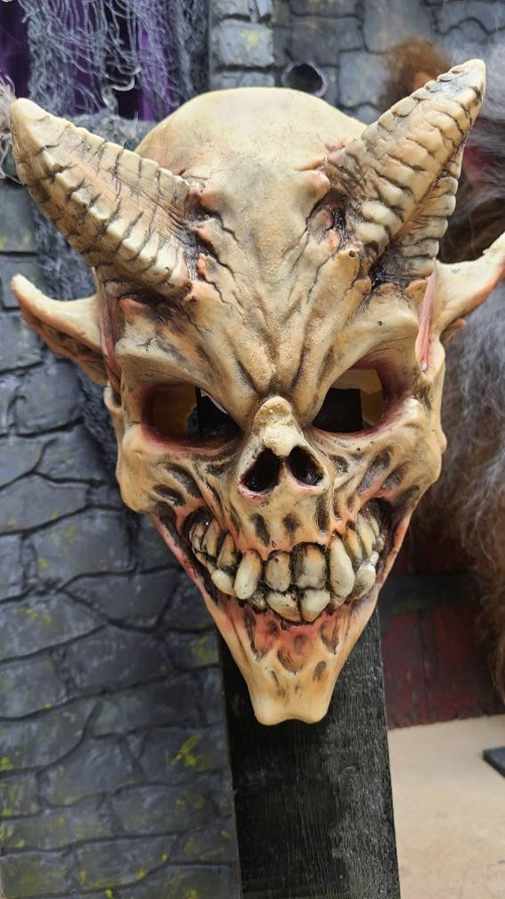 Demon Skull latex mask