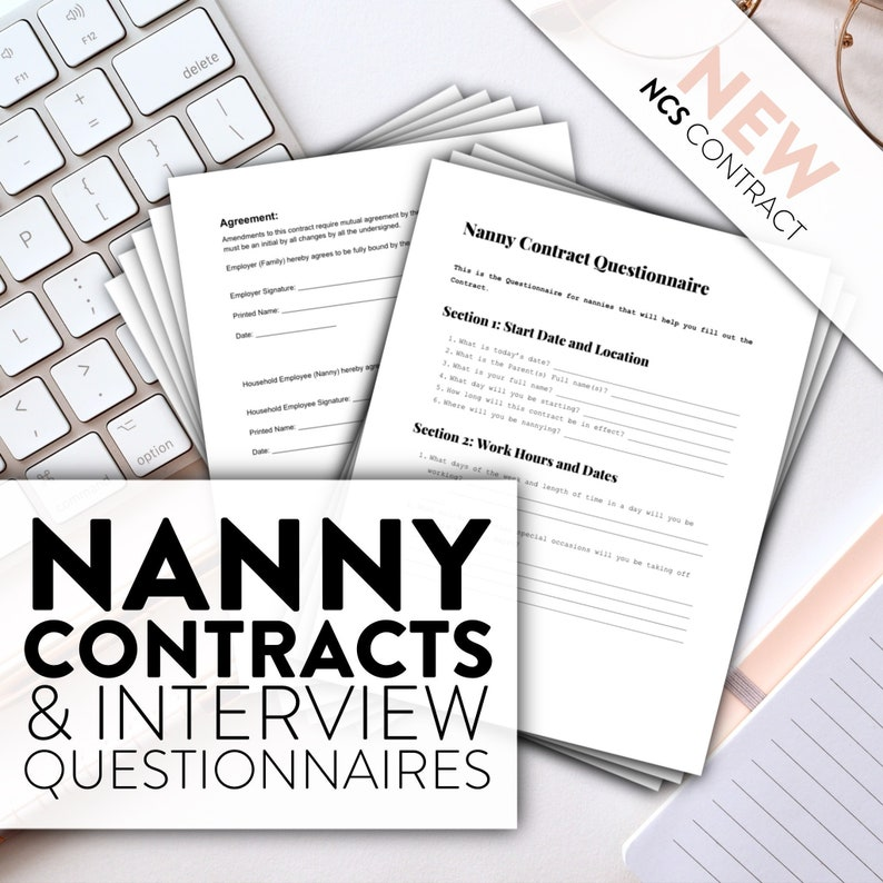 Nanny's Contract  Contract Questionnaire  Contracts for image 0