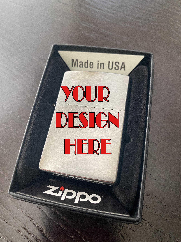 Design Your Own ZIPPO Laser Engraved Custom Lighter
