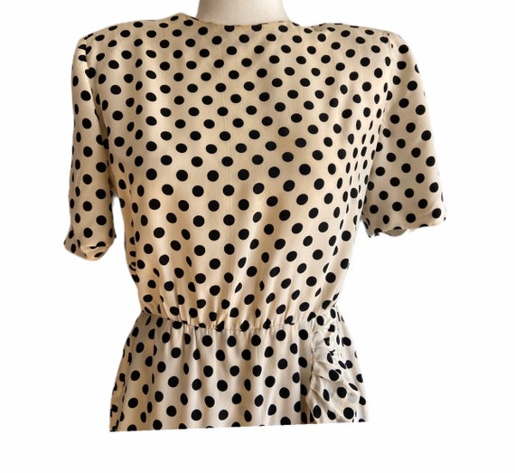 1960's Givenchy Silk Polka Dot Dress - image 6