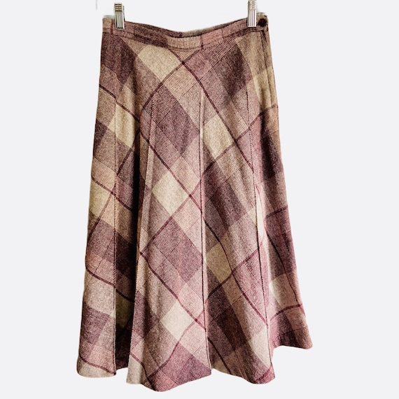 1970's DonKenny Plaid Pleated Skirt