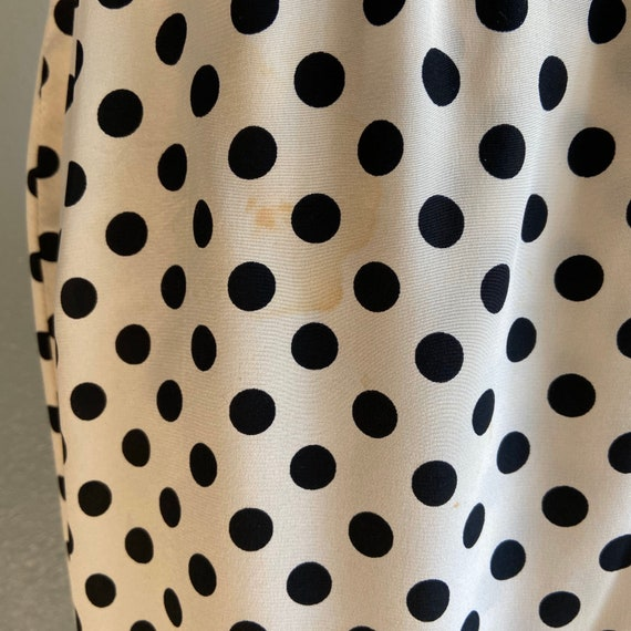 1960's Givenchy Silk Polka Dot Dress - image 8