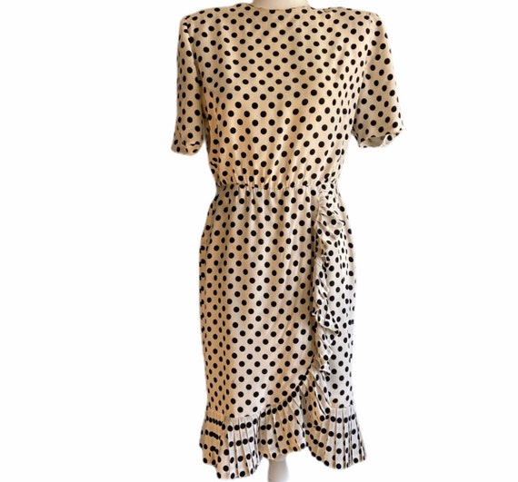 1960's Givenchy Silk Polka Dot Dress