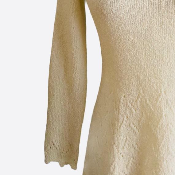 1970's St. John Crochet Knit High Neck Dress - image 4