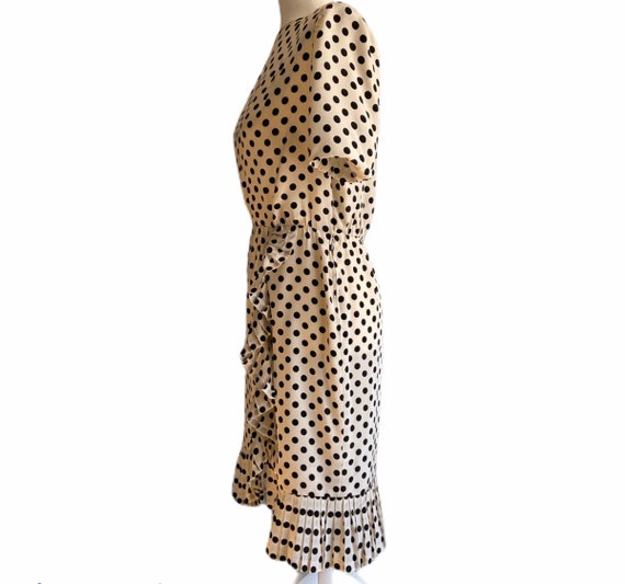 1960's Givenchy Silk Polka Dot Dress - image 4