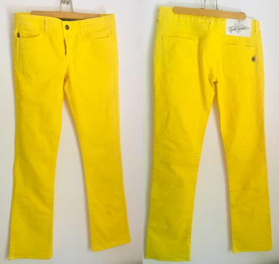Authentic ROBERTO CAVALLI yellow jeans