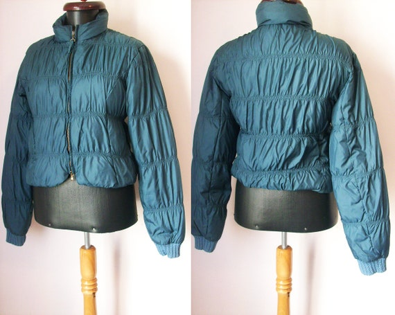 Jean Paul Gaultier bomber blue jacket