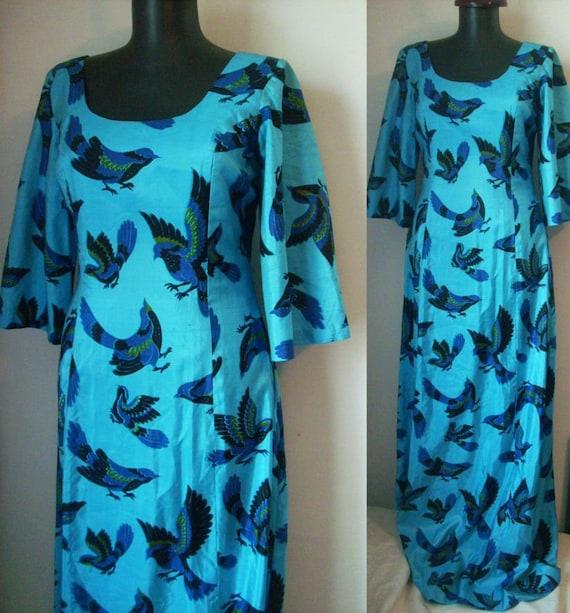 70s RAW SILK DRESS turtledoves