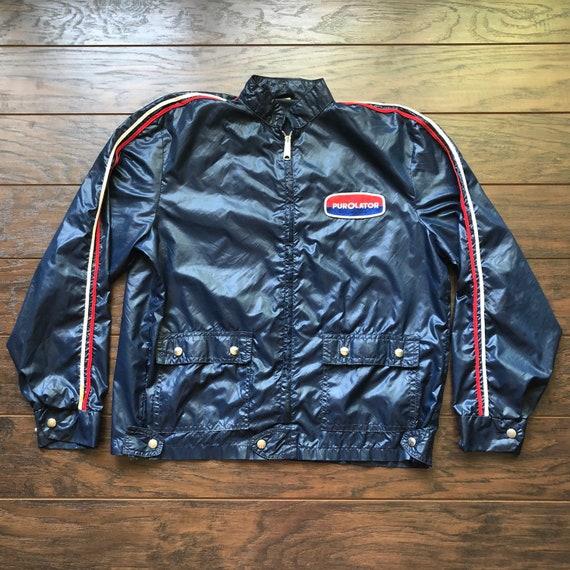 70's Vintage Purolator Jacket with Racing Stripes