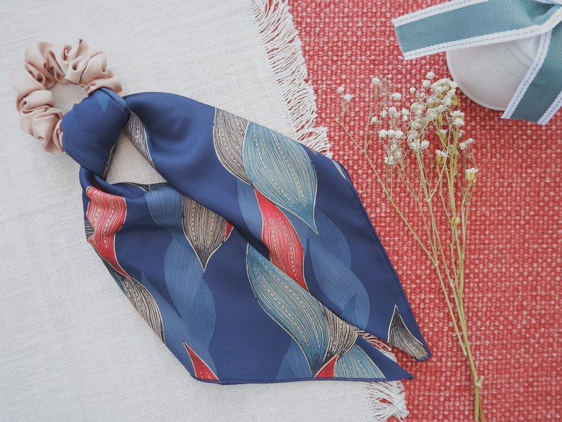 Multiple Patterns Deluxe Silk Satin Hair Scarf Scrunchie