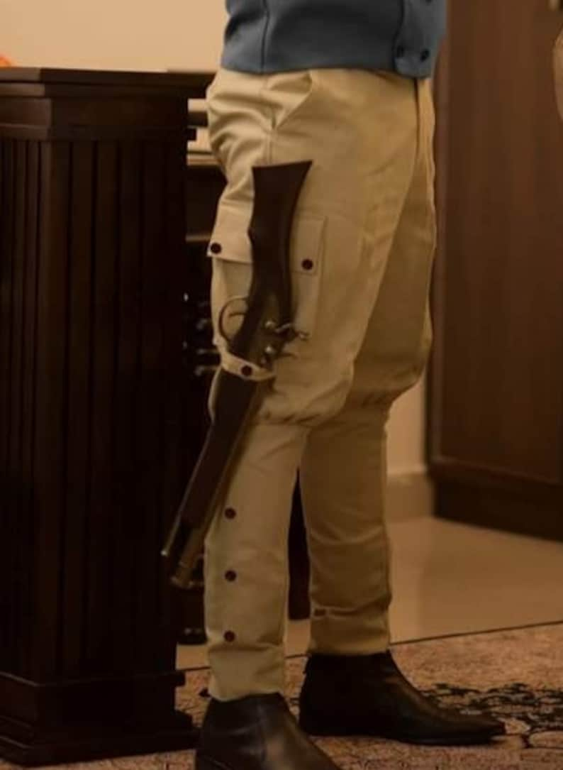 Men's Steampunk Pants & Trousers     Classic Khaki Jodhpurs Pants Baggy Breeches Equestrian Horse Riding Polo Pants English Military Uniform Steampunk Trousers  AT vintagedancer.com